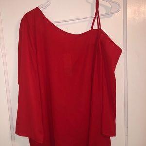 One cold shoulder blouse